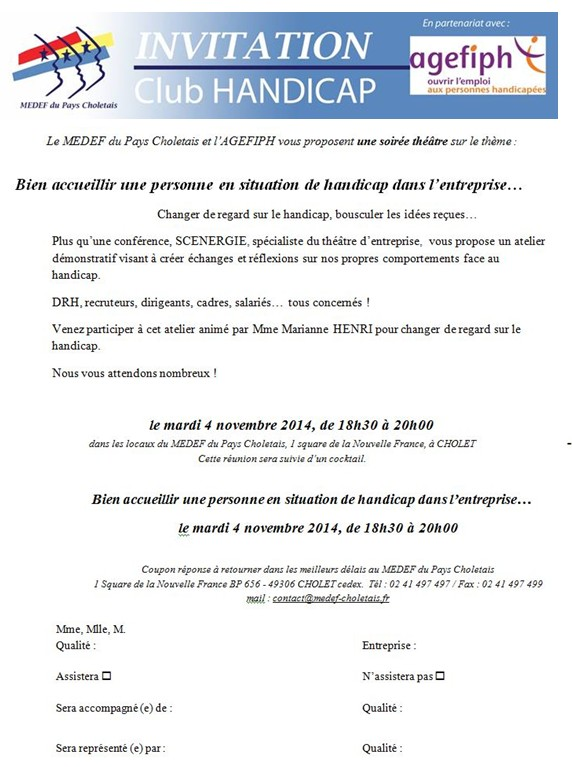 INVITATION MEDEF - NOV 2014